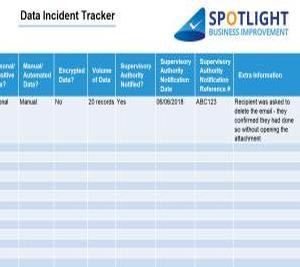 Data Incident Tracker Template Spotlight Business Improvement